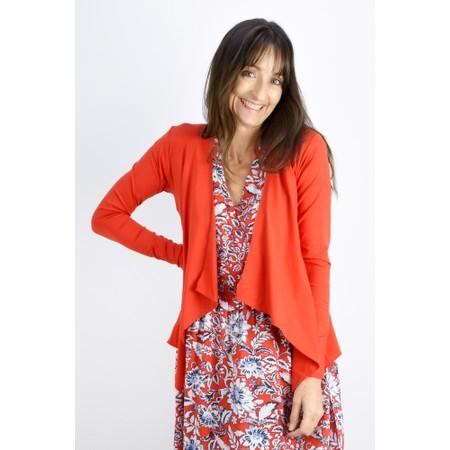 Masai Clothing Itally Basic Waterfall Cardigan - Pink