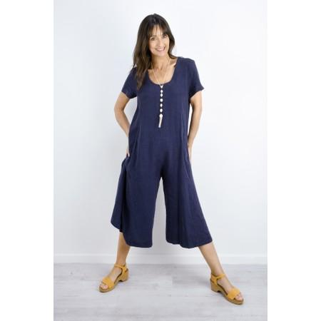 Sahara Linen Viscose Jumpsuit - Blue