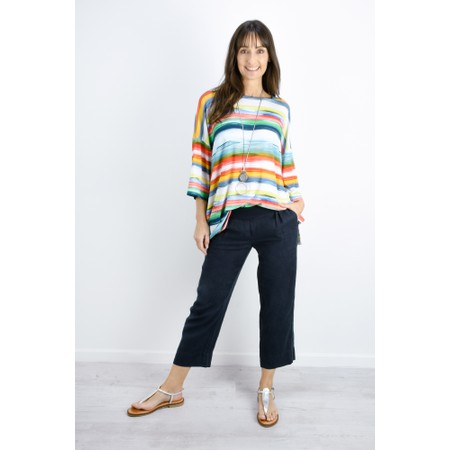 Sahara Vibrant Stripe Jersey Top - Multicoloured