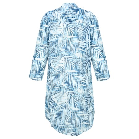 Lara Ethnics Katniss Palm Mao Shirt - Blue