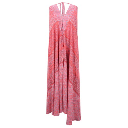 Lara Ethnics Victoria Santa Fe Maxi Dress - Red