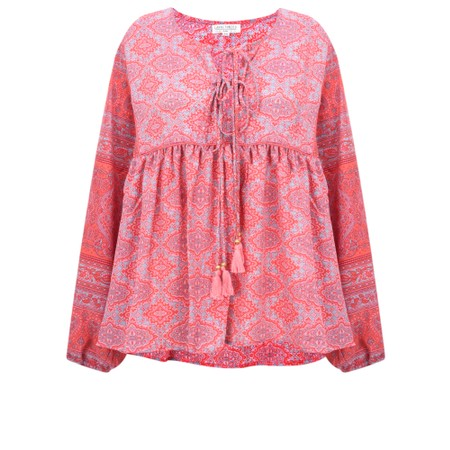 Lara Ethnics Feria Santa Fe Top - Red