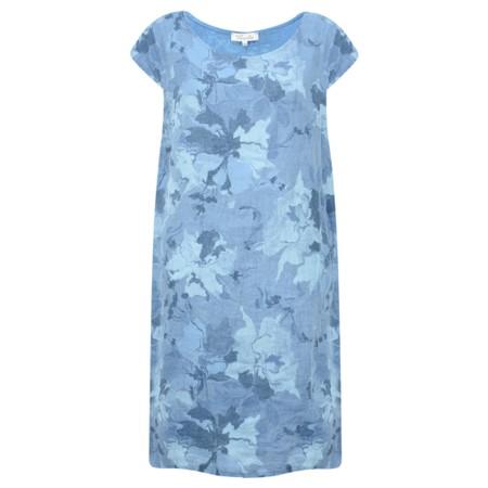 Fenella  Paola Marble Flower Easyfit Dress - Blue