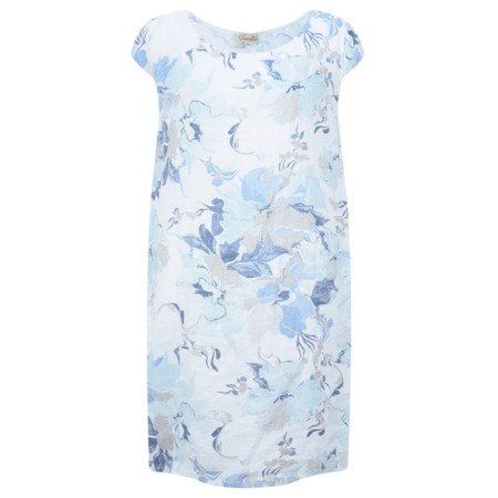 Fenella  Paola Marble Flower Easyfit Dress - White