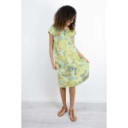Fenella  Paola Marble Flower Easyfit Dress - Green