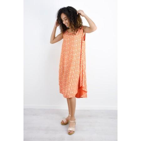 Aisling Dreams Lokho Print Luna Oversized Sundress - Orange