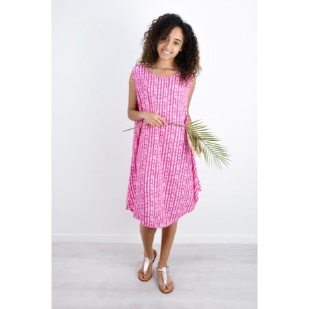 Aisling Dreams Lokho Print Luna Oversized Sundress - Pink