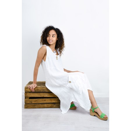 TOC  Didi Easyfit Linen Dress - White