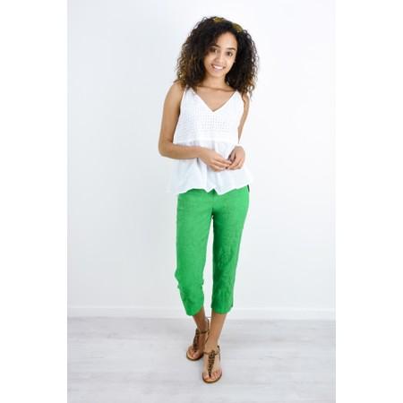 Robell Trousers Marie 07 Jacquard Trouser - Green