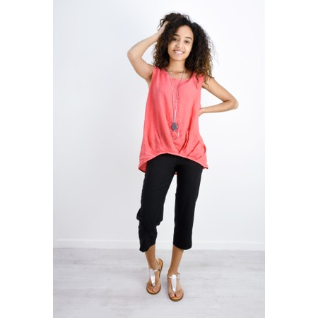 Fenella  Camille Easyfit Shell Top - Orange