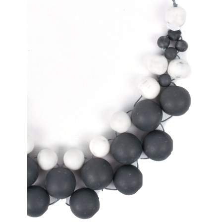 Suzie Blue Nora Chunky Resin Ball Collar Necklace - Blue
