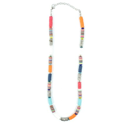 Suzie Blue Clara Short Multi-Colour Sequin Necklace - Multicoloured