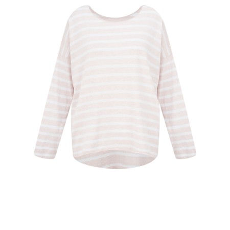 Gemini Label  Ruth Cotton Stripe Top - Pink