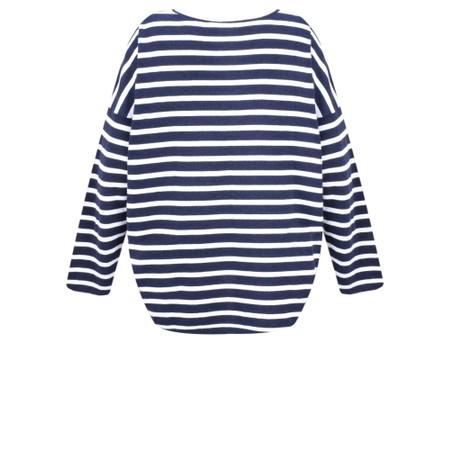 Gemini Label  Ruth Cotton Stripe Top - Blue