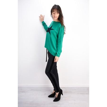 Luella Cashmere Blend Star Jumper - Green