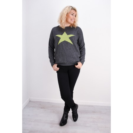Luella Cashmere Blend Star Jumper - Grey