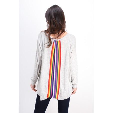Luella Dion Rainbow Cashmere Blend Jumper - Grey