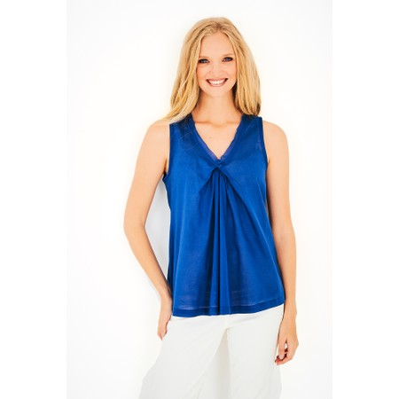 Adini Cotton Voile Jena Top - Blue