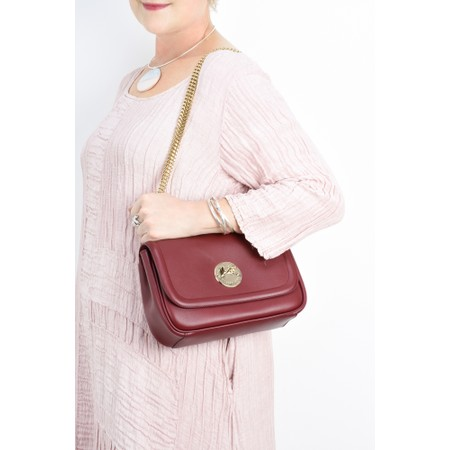 Hill & Friends Happy Cross Body Chain Bag - Red