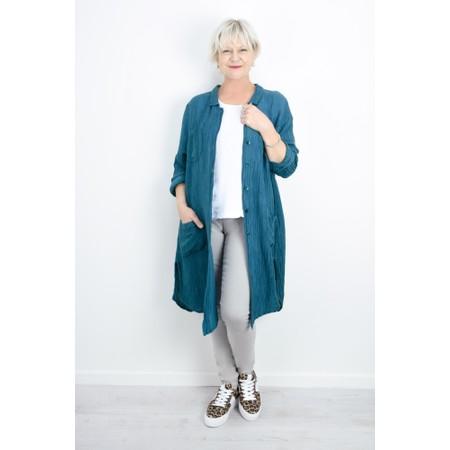 Grizas Lena Crinkle Shirt Jacket - Turquoise