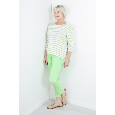 Gemini Label  Ruth Cotton Stripe Top - Green