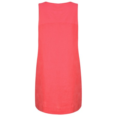 Fenella  Laural Linen Easy Fit Sleeveless Dress - Red