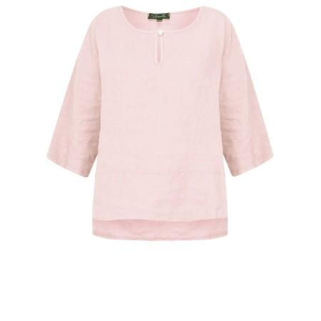 Fenella  Aria EasyFit Boxy Linen Top - Pink