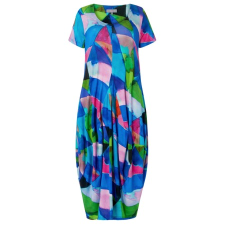 Sahara Harlequin Jersey Bubble Dress - Multicoloured