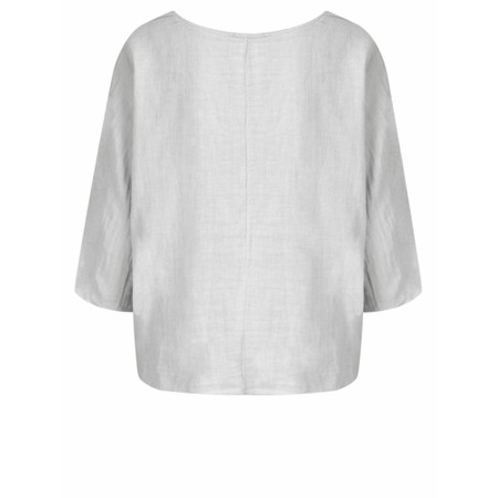 TOC  Billie Linen Easy Fit Top - Metallic