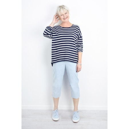 Gemini Label  Ruth Cotton Stripe Top - Blue