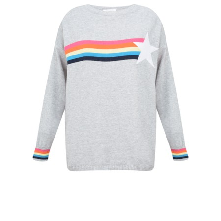 Luella Mia Rainbow and Star Jumper - Grey