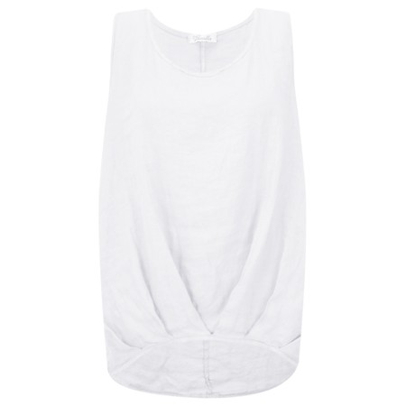Fenella  Camille Easyfit Shell Top - White