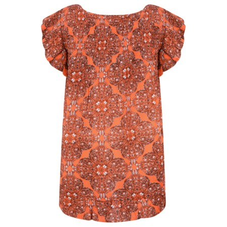 Masai Clothing Ebele Moroccan Top - Orange