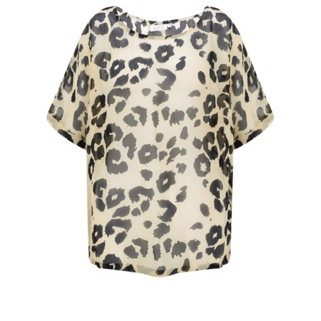 Masai Clothing Dasha Leopard Print Top - Multicoloured