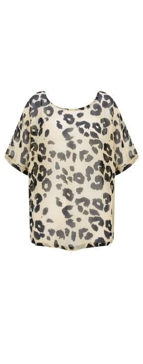 Masai Clothing Dasha Leopard Print Top Bast Org