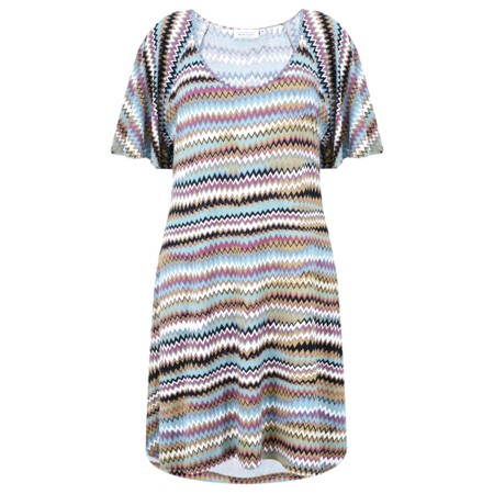Masai Clothing Gigi Zig-Zag Tunic - Blue
