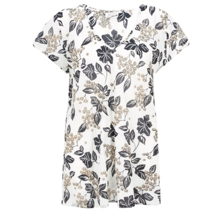 Masai Clothing Kaza Floral Top - Beige