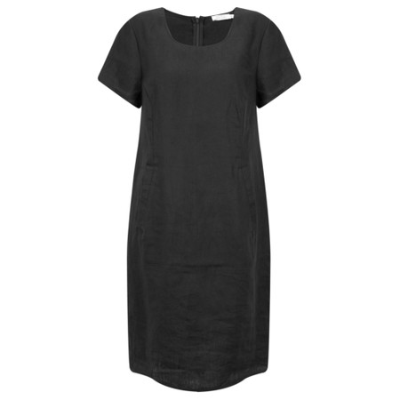Masai Clothing Nabla Linen Dress  - Black