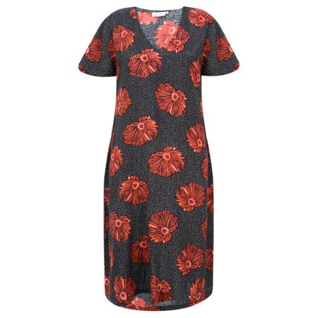 Masai Clothing Nema Floral Dress - Orange