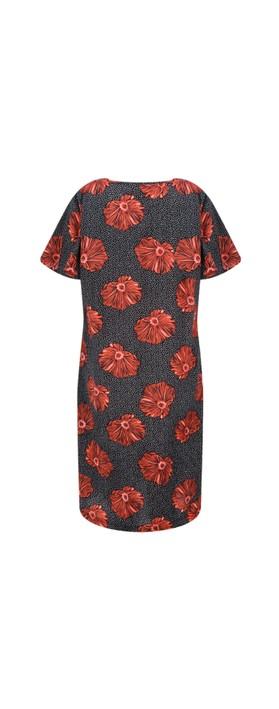 Masai Clothing Nema Floral Dress Pumpkin Org