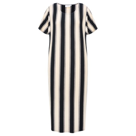 Masai Clothing Nessi Stripe Dress - Beige
