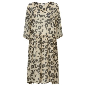 Masai Clothing Neoma Leopard Print Dress