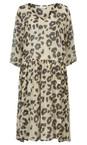 Masai Clothing Bast Org Neoma Leopard Print Dress