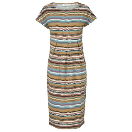 Masai Clothing Olnia Zig-Zag Dress - Blue