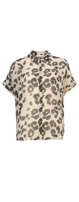 Masai Clothing Leva Leopard Print Blouse Bast Org
