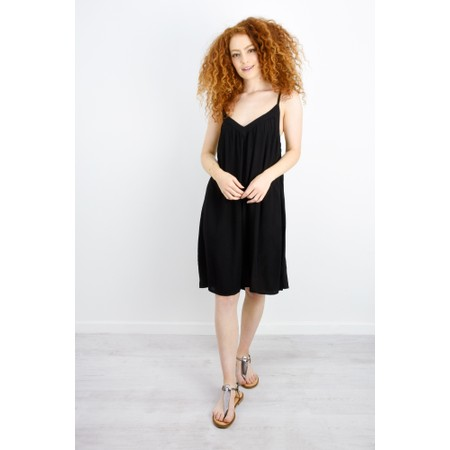 Lara Ethnics Melanie Summer Crepe Strappy Dress - Black