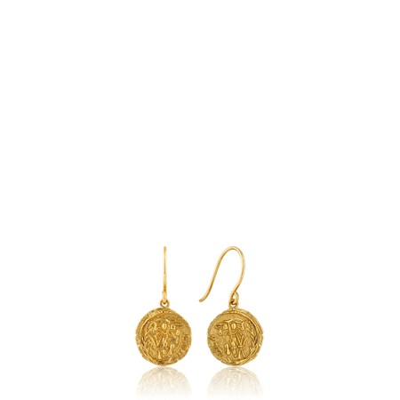 Ania Haie Emblem Coin Hook Earrings - Gold