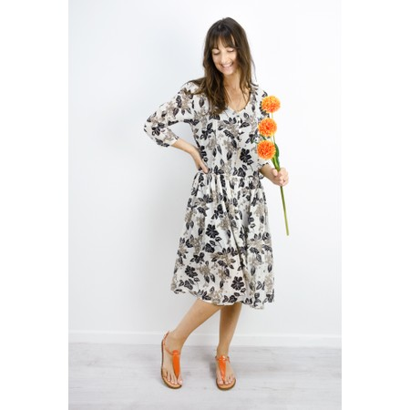 Masai Clothing Neoma Floral Dress - Beige