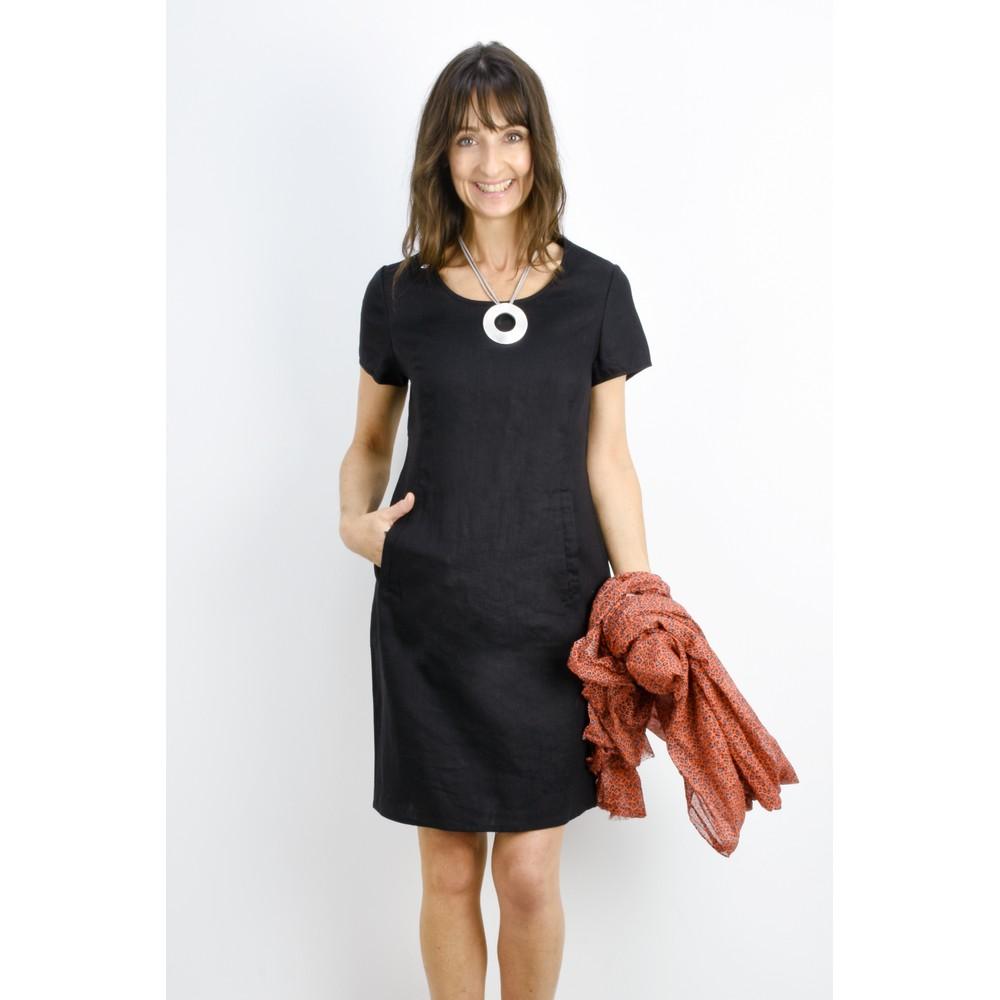 Masai Clothing Nabla Linen Dress  Black