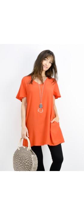 Masai Clothing Gitussa Tunic Pumpkin